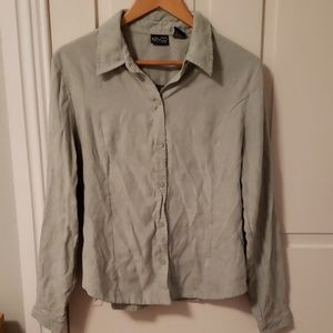 New York & Company seafoam green shirt